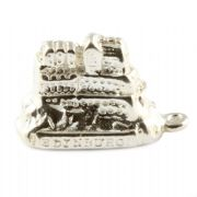 Edinburgh Castle Sterling Silver Charm - Scotland, Scottish